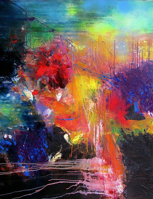 Abstract 3 by Gerhard Richter