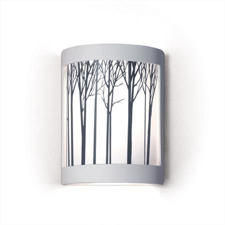 This would be nice using the USArt Quest tree stencil and Glass Line Paints   Ansel Wall Sconce, $210 on www.artisancraftedlighting.com