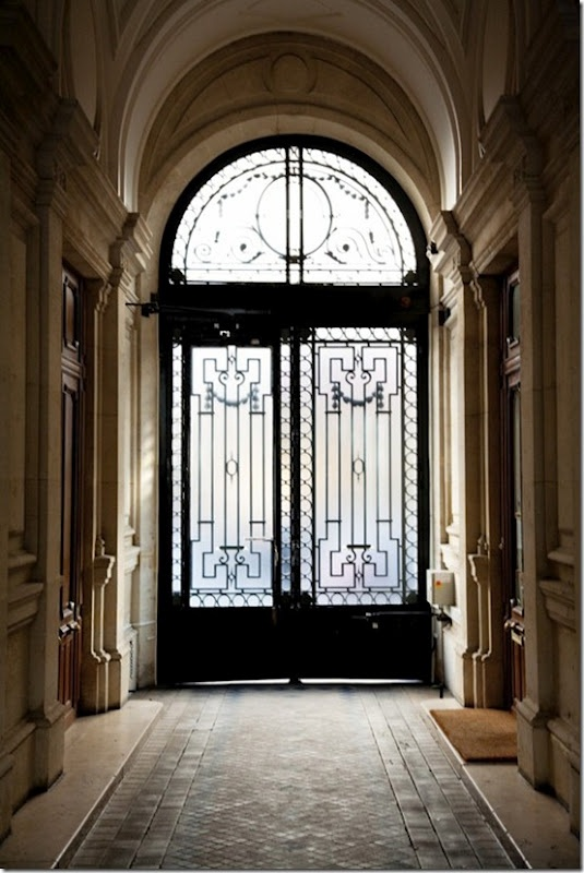 I like the black doors with mostly glass and the arch!