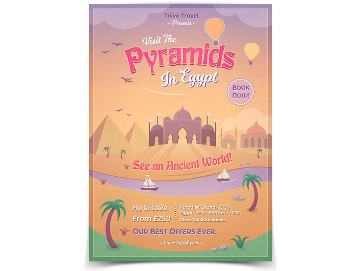 Pyramids of Egypt Flyer  - buy it here: https://graphicriver.net/item/paradise-island-flyer/20269461