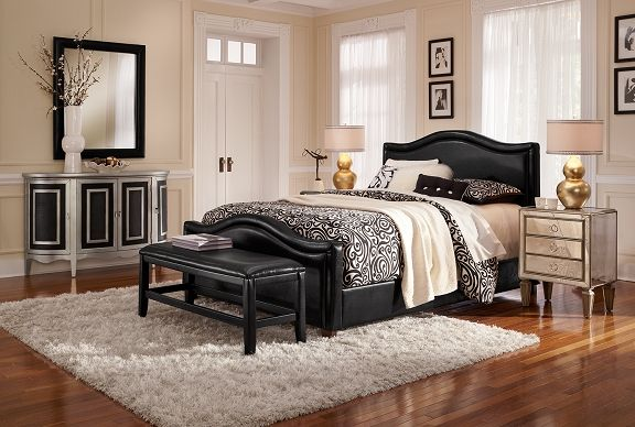 Turnberry II Bedroom Collection | Furniture.com.  I think this bed may go nicely with glamour chests.