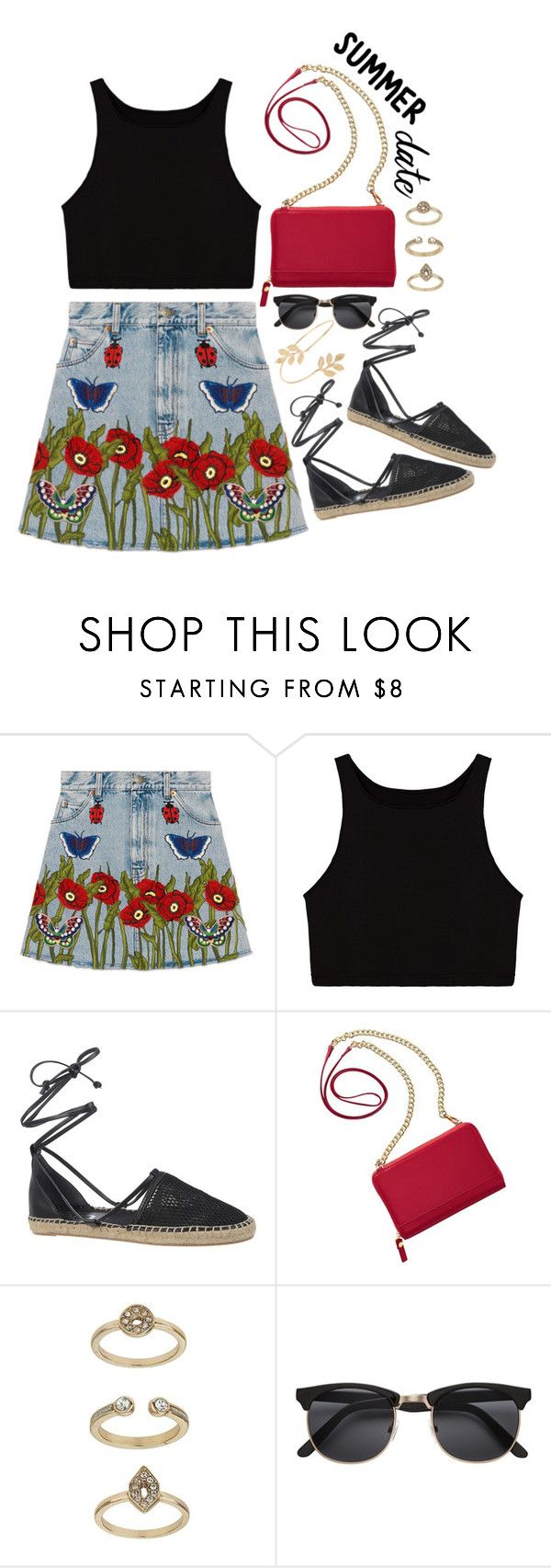 """Butterfly"" by elviretta on Polyvore featuring moda, Gucci, Circus By Sam Edelman, TravelSmith, Topshop e Miss Selfridge"