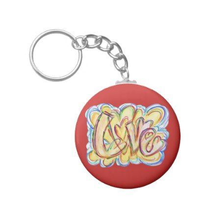 Love Inspirational Word Art Custom Key chains - heart gifts love hearts special diy