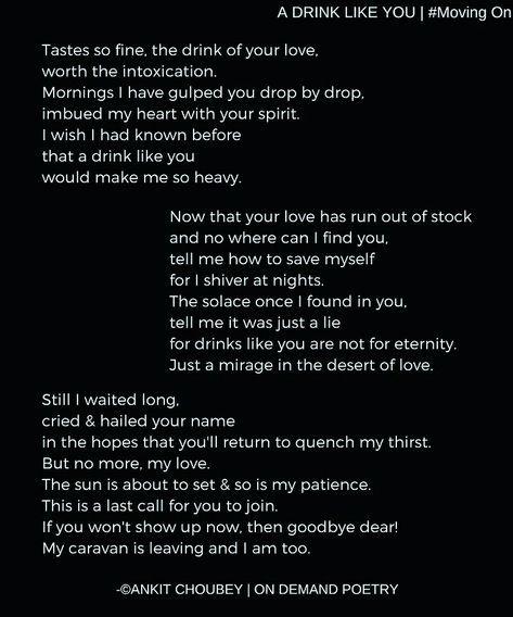 Poetry Poem Poet Ankit Choubey Quotes Love Heartbreak Quote Feelings