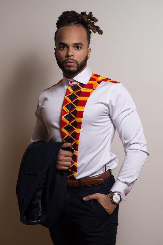 2018 ankara styles for men : Awesome Ankara shirt outfits ...