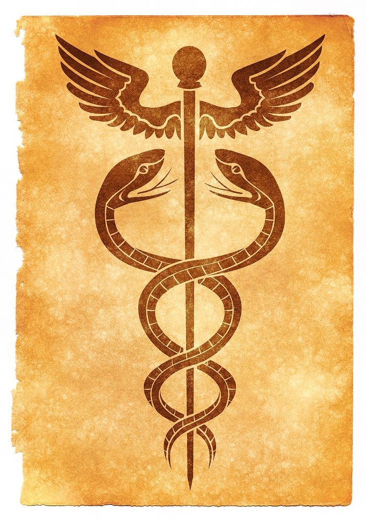 "The Caduceus. (*Note-Compare to the symbol of the Chinese Fu Xi  who created the ""I Ching"" by revelation)."