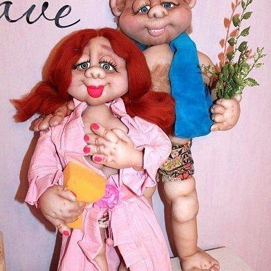 Банщики. Высота 50-60 см. Сделаю на заказ в любой цветовой гамме.#kuklanasakas #продам  #кукларучнойработы #текстильнаякукла #кукла #handmeide  #хендмейд #баня #любовь #девушка #подарок #дом