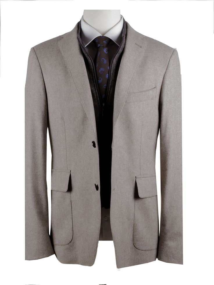FRAGOSTO BLAZER WITH BUILT-IN GILET 80%WOOL-20%POLYESTER