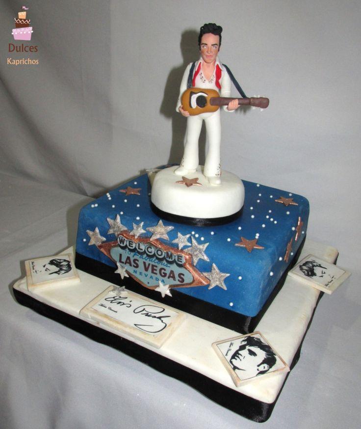 Tortas Elvis Presley #TortaElvisPresley #TortasDecoradas #DulcesKaprichos