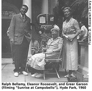 best eleanor roosevelt images eleanor roosevelt sunrise at campobello stars ralph bellamy and greer garson eleanor roosevelt at hyde park