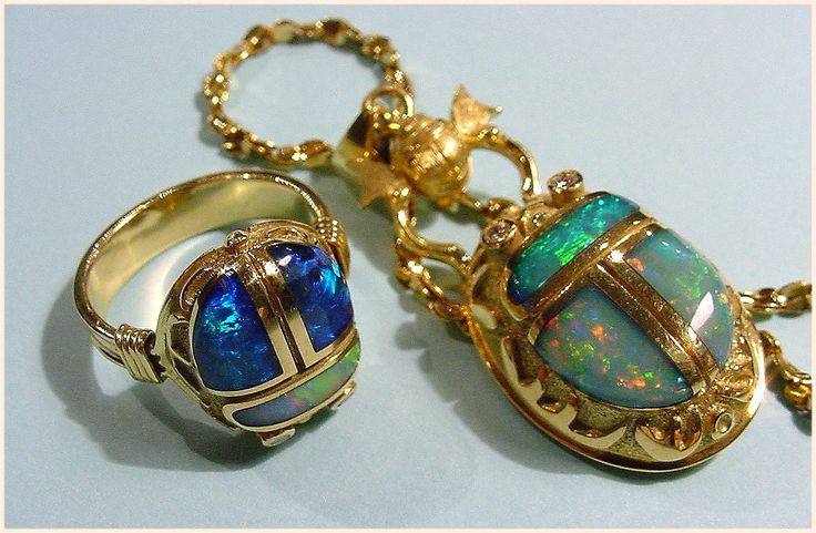 egyptian pendants | egyptian style opal inlay jewelry