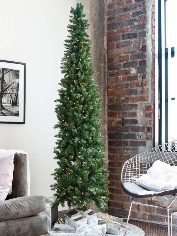 15 Artificial Christmas Trees That Look Like The Real Deal Artificial Christmas Tree Thin Christmas Tree Pencil Christmas Tree
