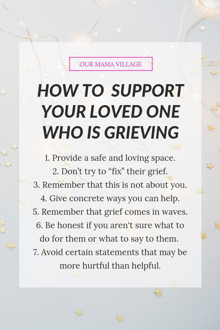 How to support a grieving spouse