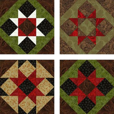 Saw Tooth Patchwork Quilt Block Pattern ~ not the same as Saw Tooth Star