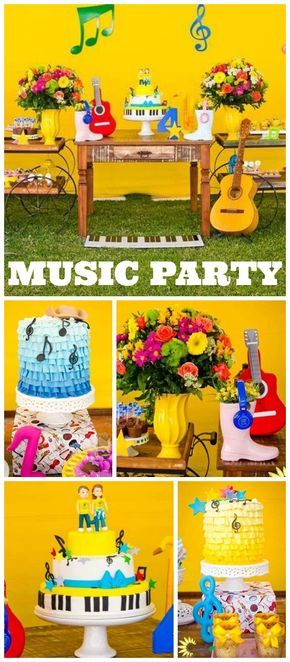 How fun is this country music birthday party?! See more party ideas at CatchMyParty.com!