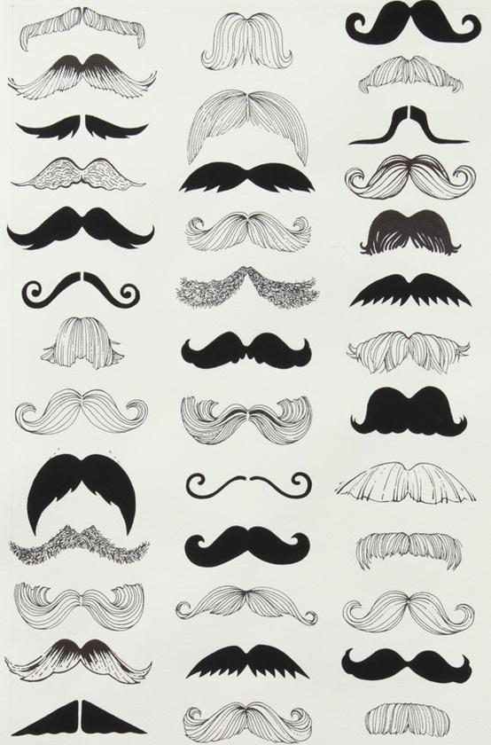 Ha, ha, ha. So many moustaches!