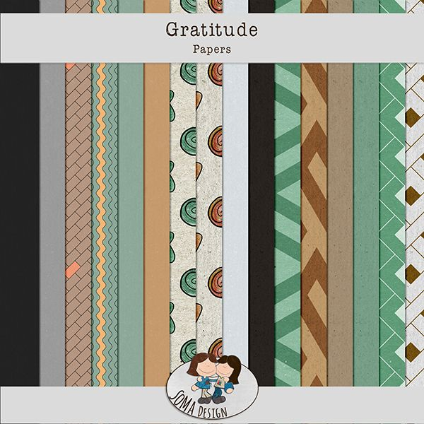 Oscraps.com :: Shop by Category :: All New :: SoMa Design: Gratitude - Kit