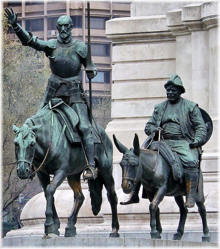 Statue of Quixote and Sancho at Plaza de España.