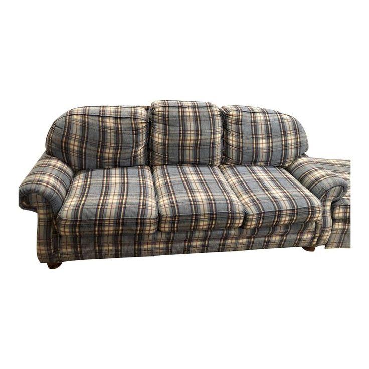 Best Modern Hickory Usa Blue Corduroy Fabric 3 Seat Sofa Sofa 640 x 480