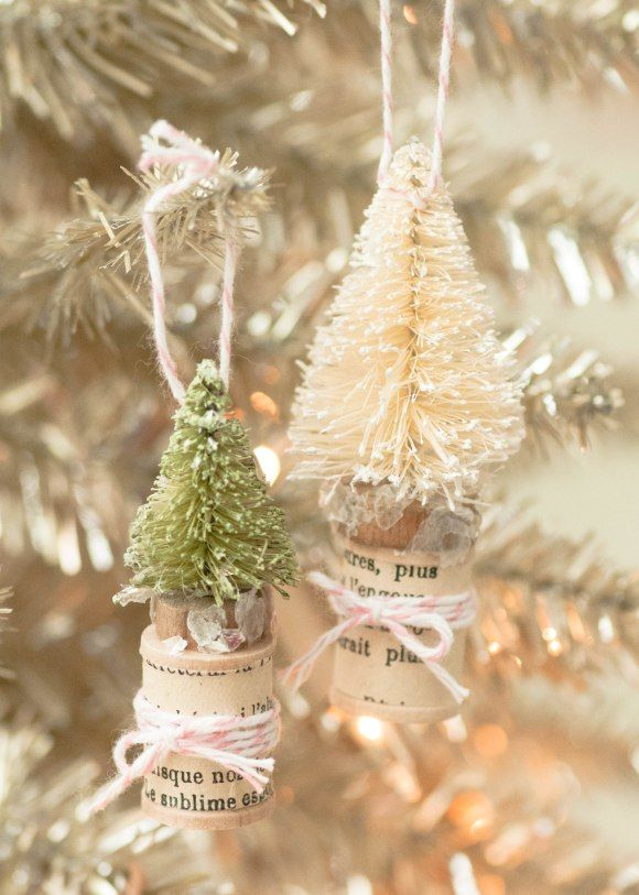 Mini Christmas Tree Place Cards and Ornaments