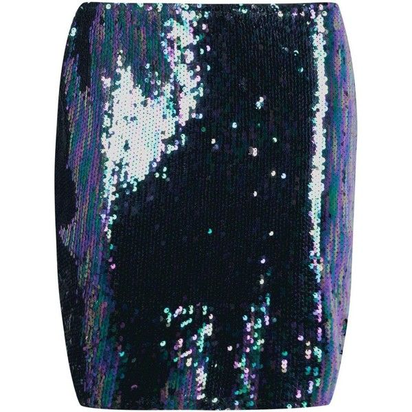 Boohoo Nolita Mermaid Sequin Mini Skirt (€26) ❤ liked on Polyvore featuring skirts, mini skirts, blue maxi skirt, sequin skirts, holographic mini skirt, short mini skirts and pleated midi skirts