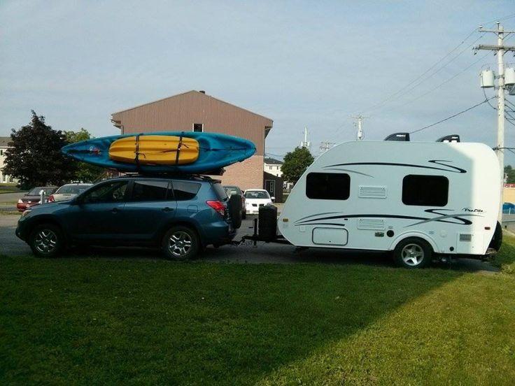 Notre set-up avec les kayaks !