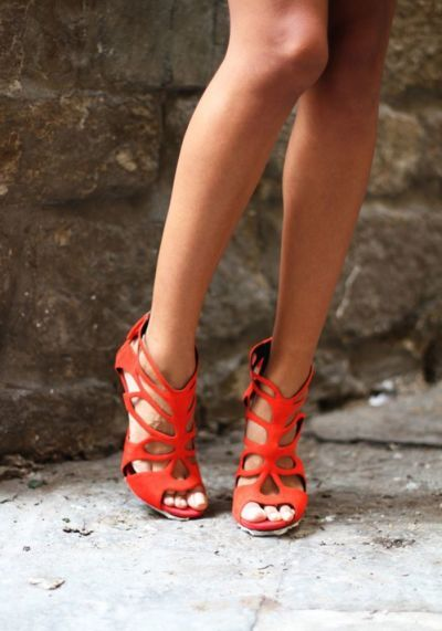 A year of shoes: Bright, beaded, tasseled, laced, and texturized mix media is all over the street. Too much is never enough when it comes to shoes. Make your feet smile in these amazing shoes that will travel your happy feet through the year.