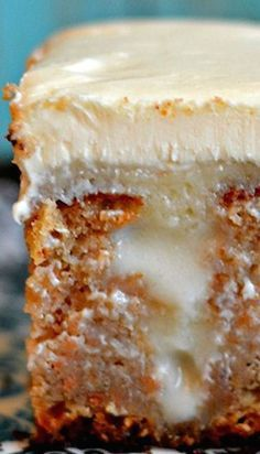White Chocolate Carrot Poke Cake - A Carrot Cake Poke Cake. And what should I fill the pokes with? Well, white chocolate of course. Sure sounded good to me! It's SO super simple!