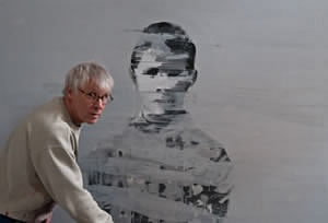 Erik and one of his paintings. Some of the best art to come out of Norway.