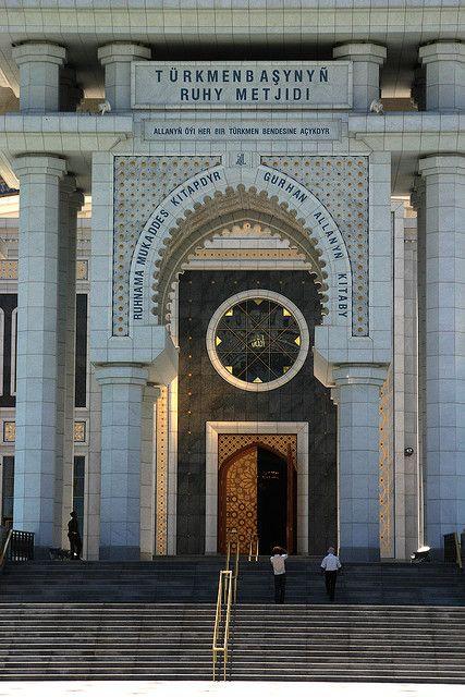 Turkmenistan. Ruhy Moskee, Asjabad #Travel #Turkmenistan #Places