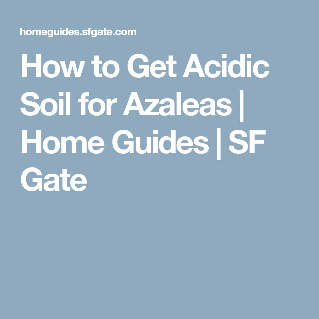 how to get rid of acidic soil