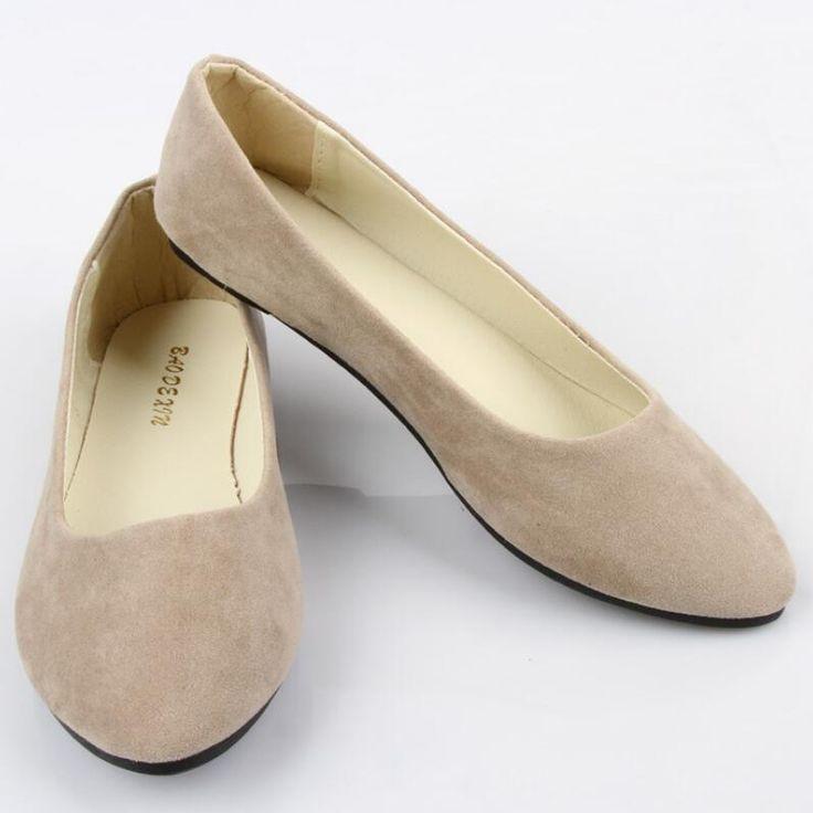 Primavera Outono Mulheres Loafer Sapatas Das Senhoras Sapatos de Ballet Flats Mulher Bailarinas Sapato Casual Sapato Zapatos Mujer sapatos Das Mulheres Plus Size 43