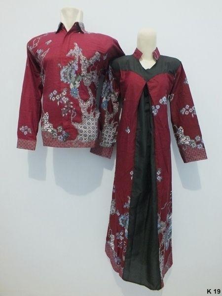 Kode : K-19 Harga : Rp 165.000,-/pasang (belum ongkir)   Size kemeja batik :  M : Lingkar dada 100cm, panjang 70cm, panjang lengan 58cm L : Lingkar dada 106cm, panjang 72cm, panjang lengan 60cm XL : Lingkar dada 110cm, panjang 72cm, panjang lengan 60cm   Size batik gamis : Allsize, fit XL (Pinggang karet) Lingkar dada : maks 110cm Panjang lengan : 50cm Panjang dress : 135 cm   Format Pemesanan, via sms : KODE BARANG (SIZE) – NAMA – NO HP – ALAMAT LENGKAP – KODE POS. kirim ke 085736662189