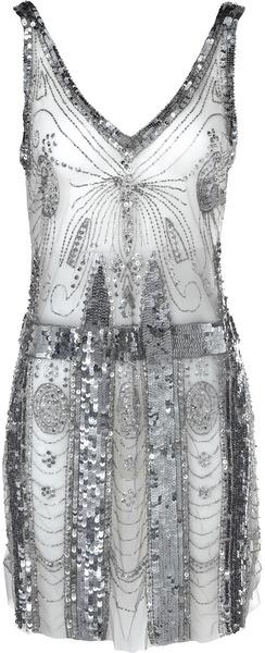 Balmain Metallic Dress   @ The House of Beccaria