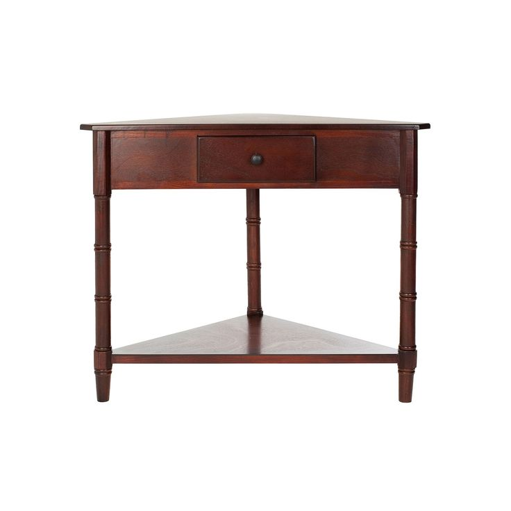 Safavieh Gomez Corner Accent Table, Brown