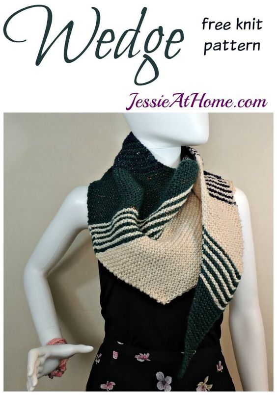 Wedge free knit pattern by Jessie At Home: