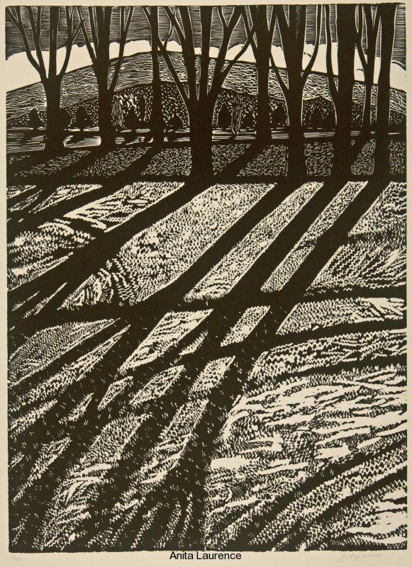 'Winter I' by Australian artist & printmaker Anita Laurence (b.1963). Linocut, edition of 40, 57 x 42 cm. via the artist's site
