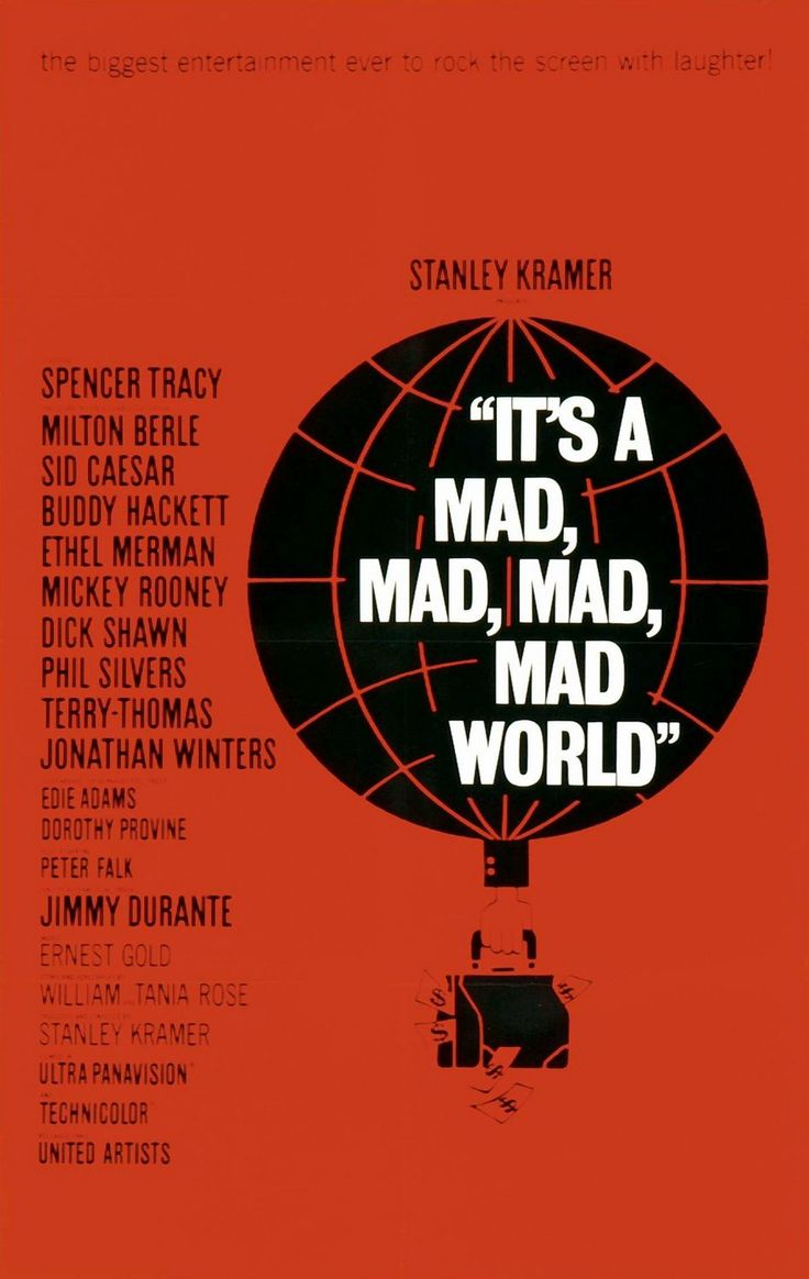 "Saul Bass, ""It's a mad, mad, mad,mad world"" movie poster, 1963"