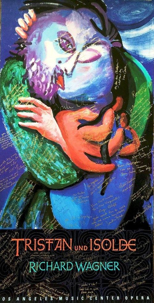 Munich et la Bavière, Louis II et Richard Wagner: Affiche et décors de David Hockney pour Tristan et...