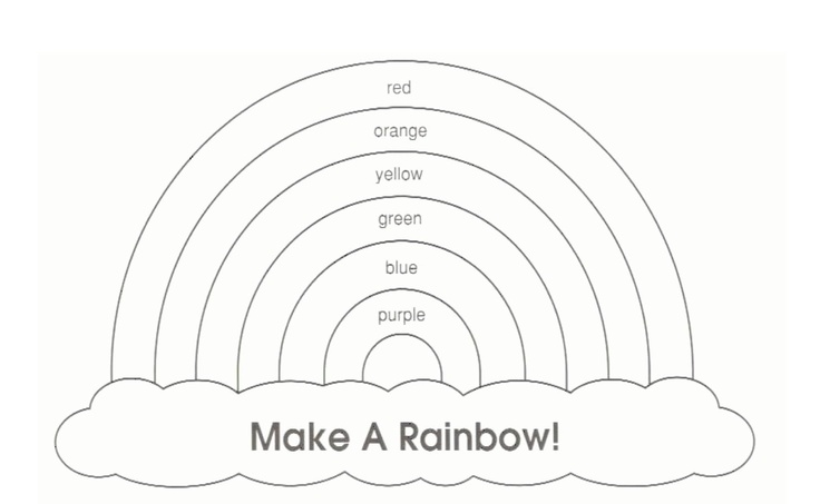 rainbow templates to colour - 46 best images about quiet book on pinterest finger