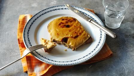 Perfect Welsh rarebit. I toast an english muffin, cut in half and pile the cheese mixture on top. Put into preheated airfryer at 200deg on a sheet of baking paper and cook a few minutes till brown and bubbling. My luxury cheats version is to cut a small wheel of camembert cheese in half horizontally and place each half on the toasted muffin and cook till bubbly and melted. So quick and so delicious.