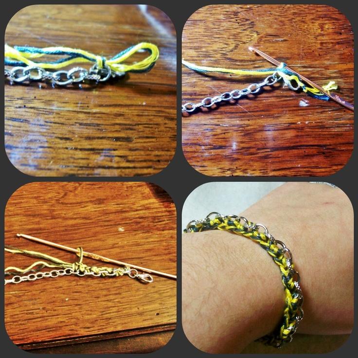 Desperate Houselife: Woven Chain Bracelet Crochet Pattern