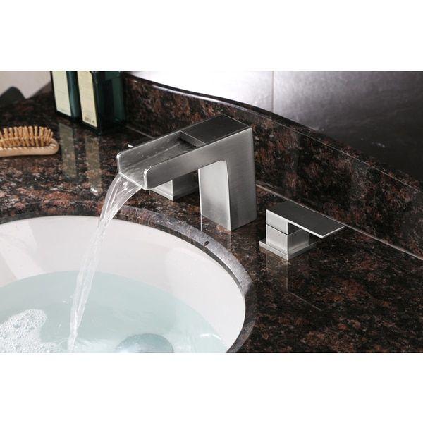 Ruvati RVF5125BN Brushed Nickel Waterfall 8 15 Inch Widespread Bathroom  Faucet By Ruvati. Contemporary ...