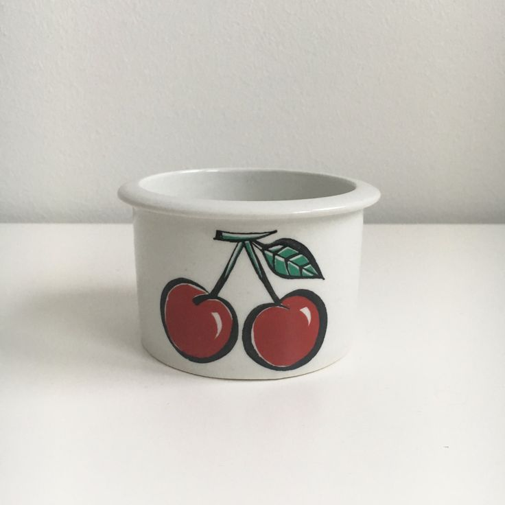 Vintage Arabia Finland Tutti Frutti Jam Jar Cherries, Ulla Procopé, 1960s - Made in Finland by FinnishVintageOasis on Etsy