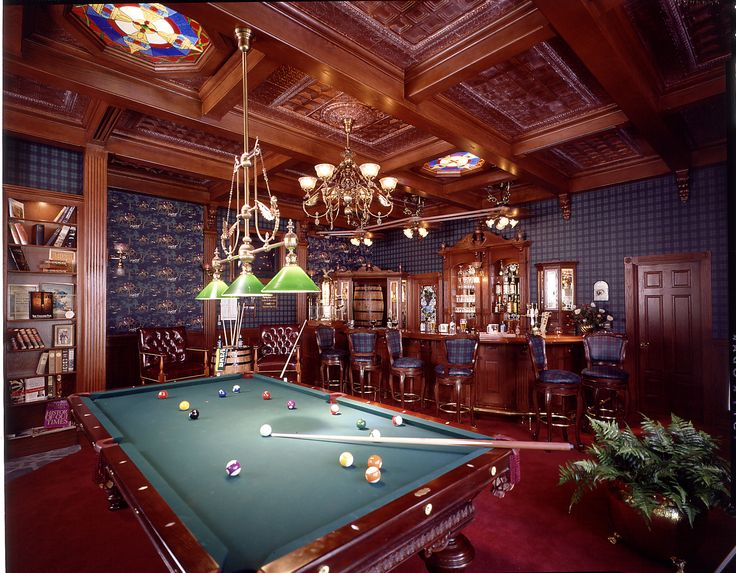 masculine billiard room and bar the ultimate man cave man ca