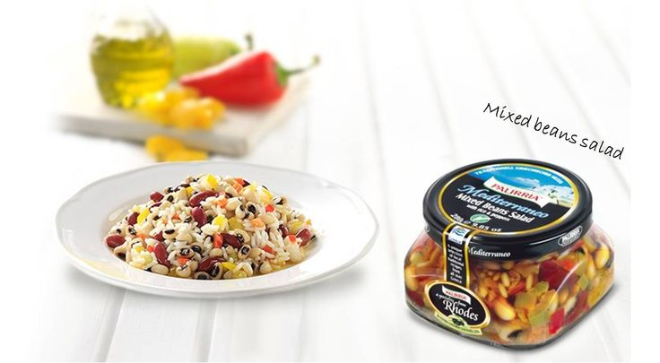Mixed beans salad. Gourmet Greek food and salads. Made by purest ingredients. All healthy,a ll Greek! http://agoragreekdelicacies.co.uk/online-shop/4570272291/Gourmet