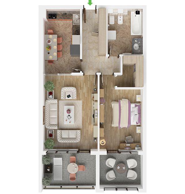Apartament cu 2 camere in Brasov - Isaran Residence - spatioase si ultramoderne. Descopera locuinta ideala pentru a te bucura de un camin primitor si confortabil pentru ca meriti!