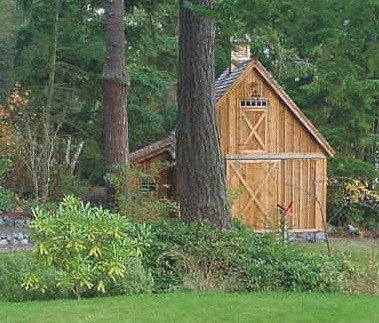 Candlewood mini barn shed garage and workshop pole for Wood pole barn plans free