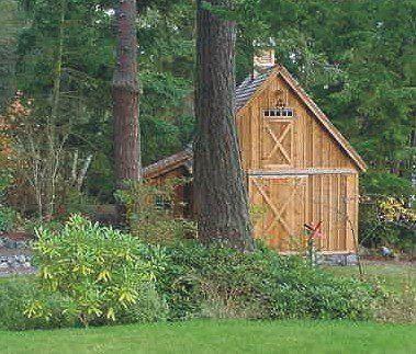 Candlewood mini barn shed garage and workshop pole for Pole barn blueprint creator