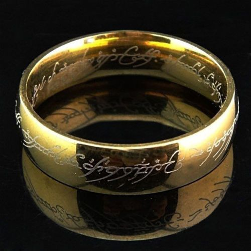 Lord of the Rings Hobbit The One Ring Aragon Ring